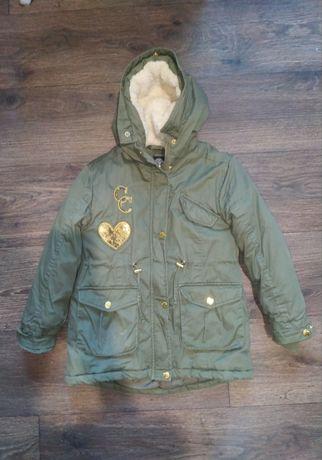 Куртка Cool club, парка, 116-128, зима-весна-осень ,пальто, пропитка