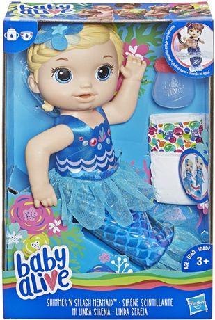 Кукла пупс мерцающая сияющая русалка Baby Alive Shimmer Splash Mermaid