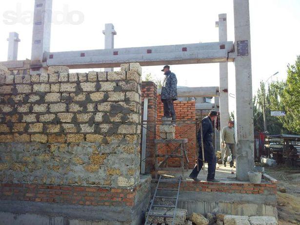 капитальное строительство фундамент, кладка, бетонные работы, кровля
