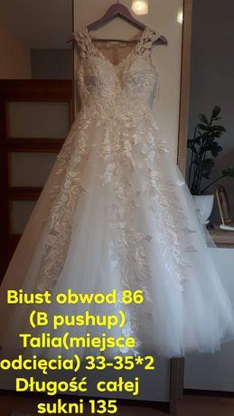 Suknia ślubna 34  na wzrost 165