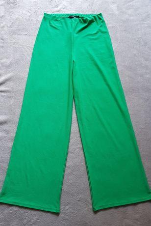 elastyczne spodnie wide leg wysoki stan