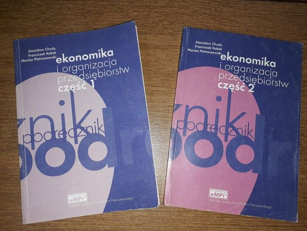 Książki podręczniki Ekonomika i organizacja przedsiębiorstw