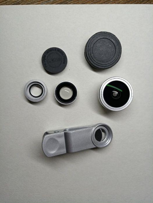 Продам набор линз с прищепкой) для телефона (ширик,макро 10х,рыбий гла Харьков - изображение 1