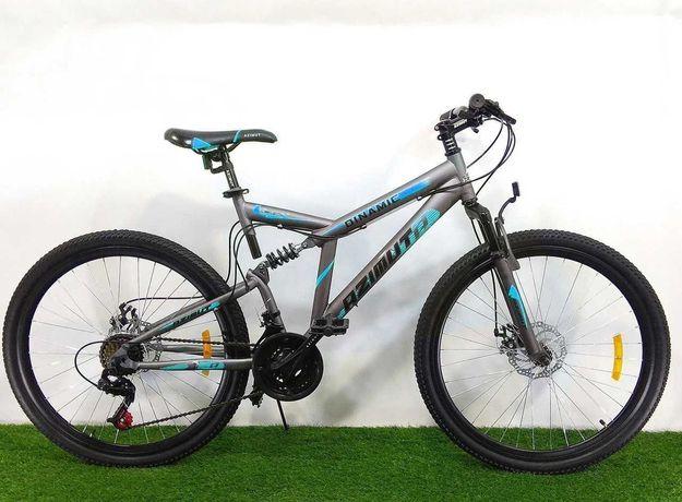 Спортивный велосипед Azimut Dinamic 26D серо-голубой+ подарок