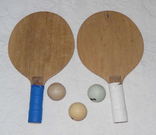 Raquetes ping pong + 3 bolas