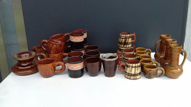 Dzbanuszki, kufelki i inne/miniaturki/ceramika/kamionka/PRL