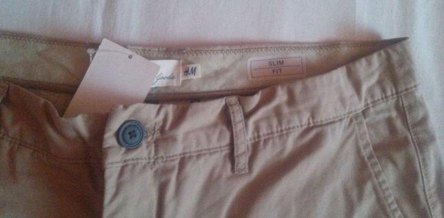 Nowe spodnie meskie chino HM 36 piaskowe vintage wrangler superdry