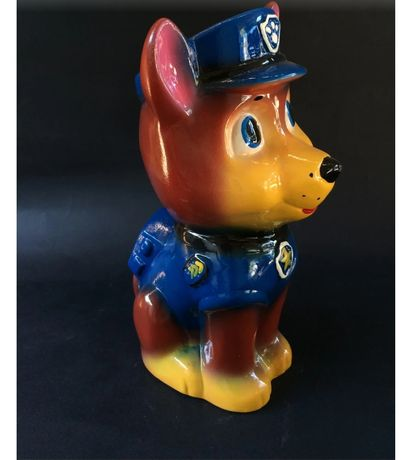Керамическая копилка ''Собака полицейский''