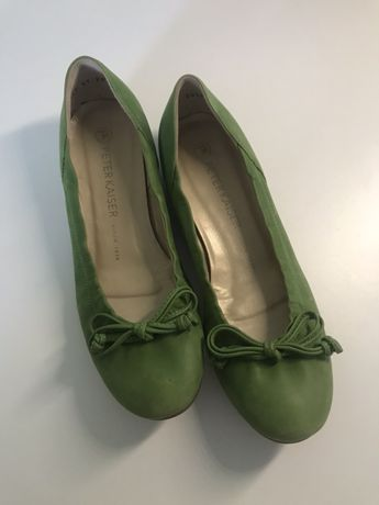 Кожаные балетки туфли девочке Peter Kaiser 23 см