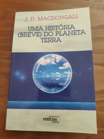 """Livro- Uma história """"breve"""" do planeta Terra"""