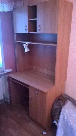 10500р. Комплект мебели (5 элементов) шкаф, стол с полками, два пенала