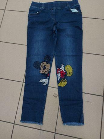 Nowe spodnie Myszka Mickey MIKI 42/44/46 pas guma