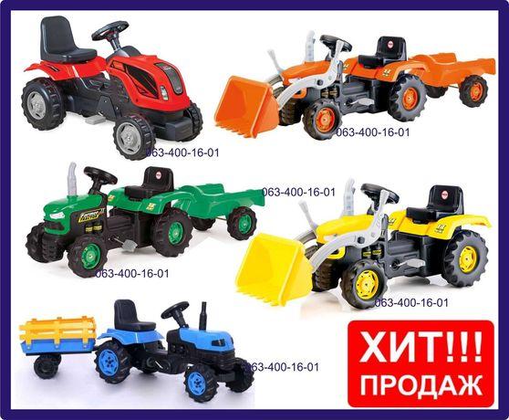 Трактор на педалях | Педальный трактор | Вело трактор с прицепом