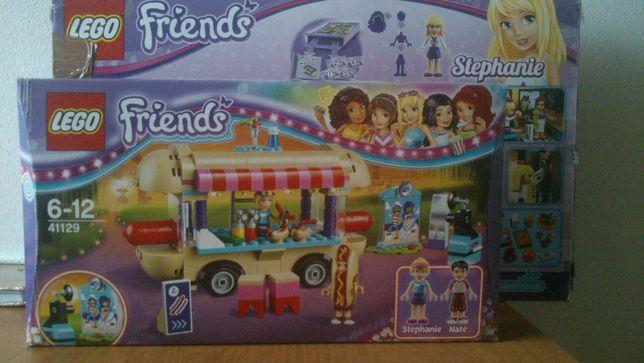 LEGO friends 41129 furgonetka z hot-dogami park rozrywki+naklejki