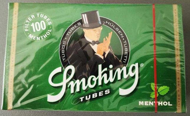 Tubos Smoking Menthol - 5 caixas (500 tubos)