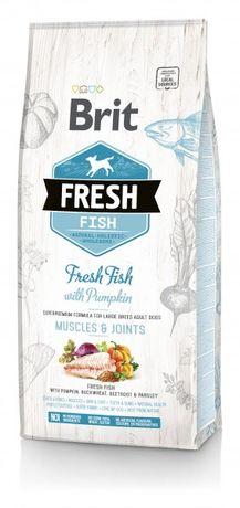 Распродажа!Сухой корм для собак Brit Fresh Adult Large Fish Брит 12 кг
