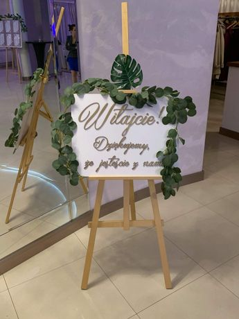 Tablica powitalna ślub wesele