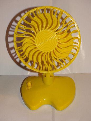 Wiatrak Mini Wiatraczek Żółty na baterie przenośny podręczny