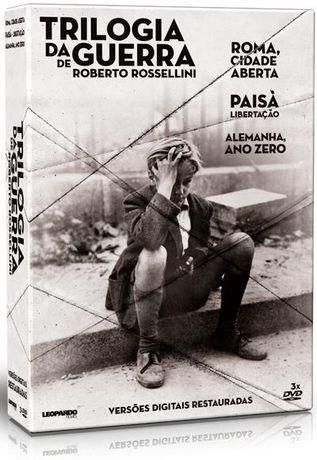 DVD Triologia da Guerra - Roberto Rosselini