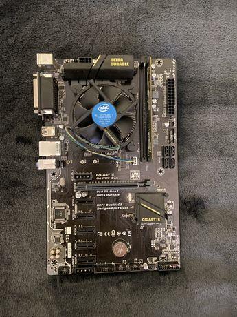 Материнская плата Gigabyte GA-H110-D3A + Celeron CPU G3930 + DDR4-4GB