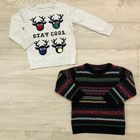 Пуловер свитер джинси новорогодний свитер