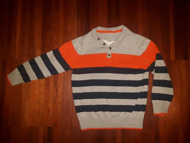 Piękny sweterek swetr Cocodrillo r.110 dla chłopca, stan super