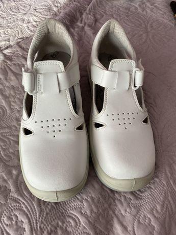 Buty przemysłowe damskie kremowe