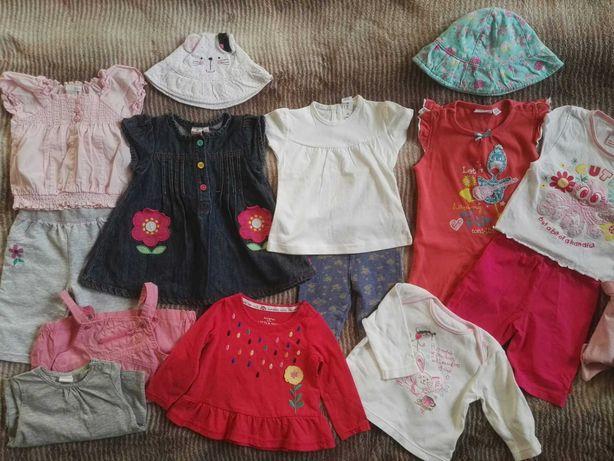 Paka lato jesień 3-6 m 62-68 sukienki bluzki body ubranka dziewczynka