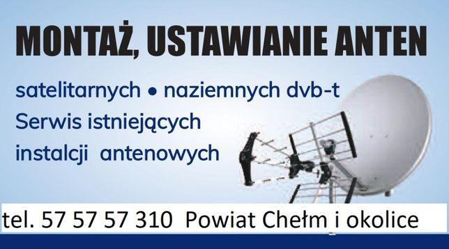Montaż i serwis anten satelitarnych i naziemnych, ustawianie sygnału