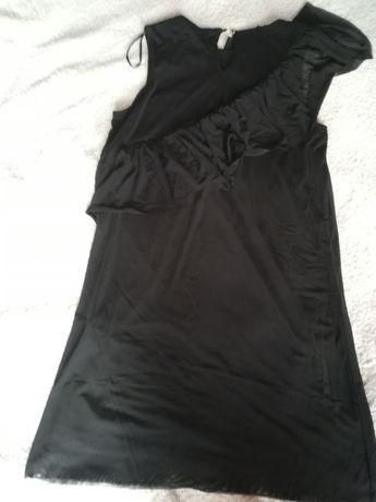 Czarna sukienka trapezowa mohito rozm s