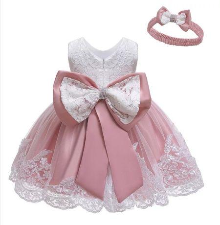 Śliczna sukienka r 98/104 tylko 99zl gratis opaska