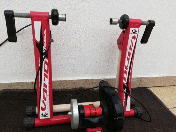 Rolo treino + suporte roda