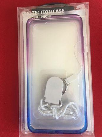 Etui iPhone 6 plus / 6S plus silikonowe ombre nowe smycz gratis