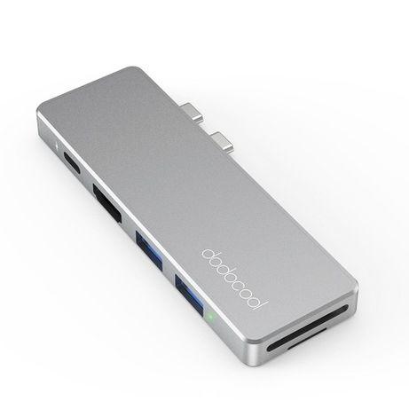 dodocool dc 69 dark gray Adapter 7w1 macbook