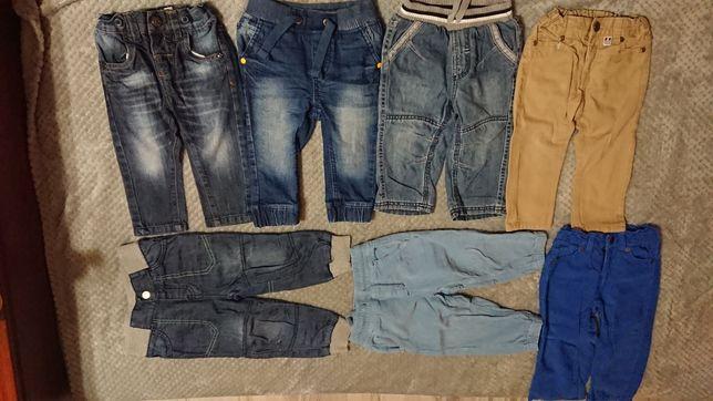 Spodnie  7szt.rozmiar 80