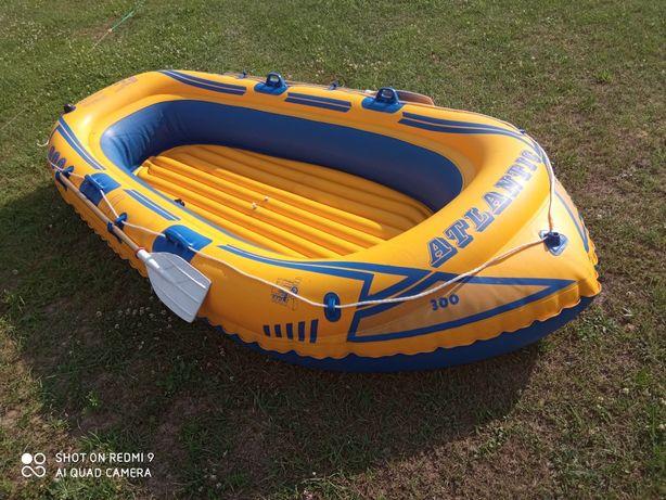 Duży ponton 280 kg 4 osobowy plus wiosla