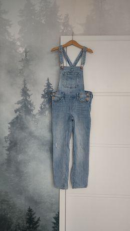 Ogrodniczki jeansowe z H&m 134cm 8-9 lat