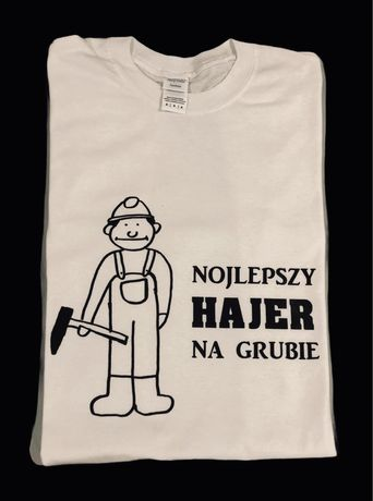 Koszulka z nadrukiem - Nojlepszy hajer na grubie