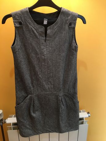 Vestido menina 13/14 anos ZARA cinzento com bolsos inverno/meia estaçã