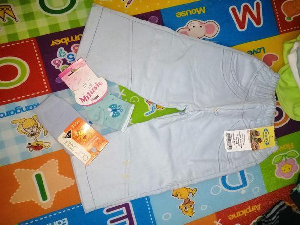 Ocieplane spodnie niemowlece