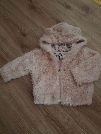 Bluza z misia zimowa 74cm / 80cm dziewczynka  kremowa