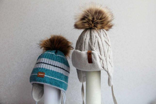 Шапка зимняя, шапки, варежки, ушанка