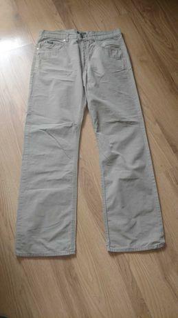 Beżowe,męskie,firmowe-Esprit spodnie rozm 34/32