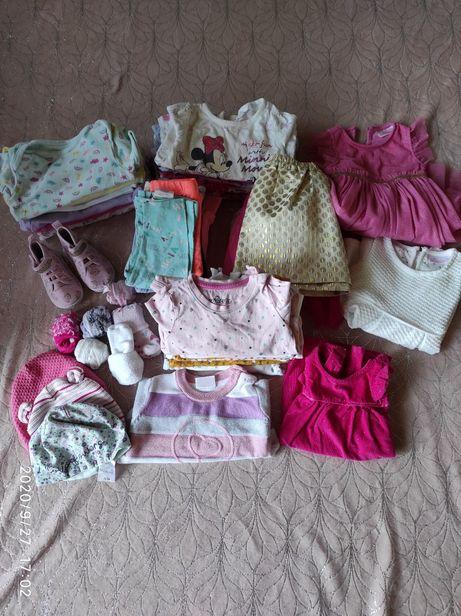 Paka paczka ubranek dla dziewczynki rozmiar 74 ubranka dla dziewczynki