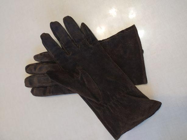 Перчатки замш новые