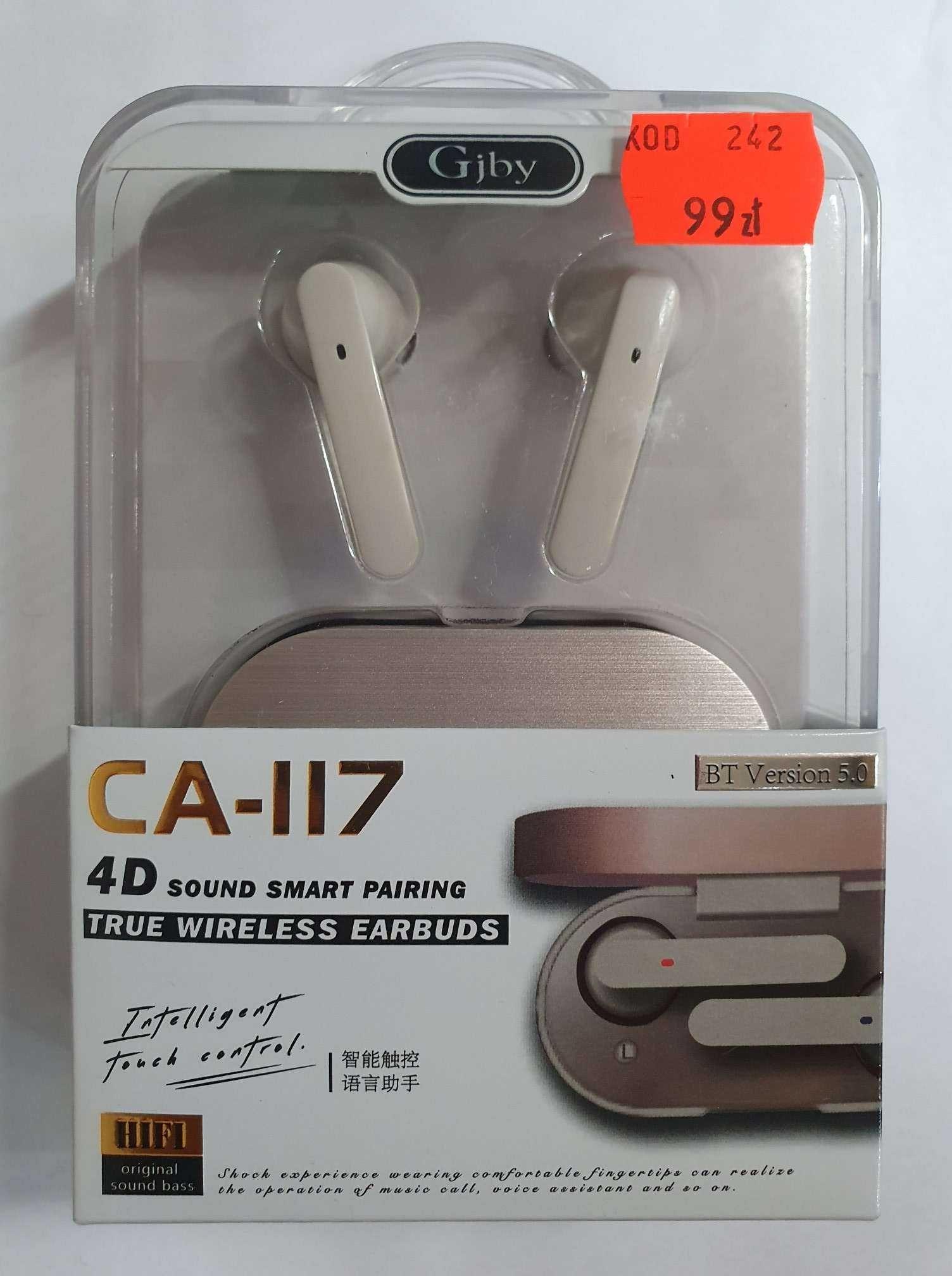 NOWE słuchawki bezprzewodowe GJBY CA-117 szare lombard Madej sc