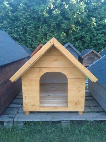 Duża buda dla psa, nowa, ocieplana, dwuspadowy dach