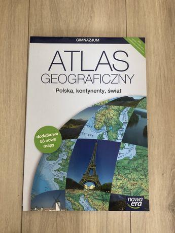 Atlas geograficzny Polska,kontynenty, świat