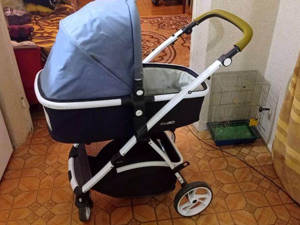 Детская коляска, люлька, автокресло 3 в 1 с сумкой, дождевиком EasyGo