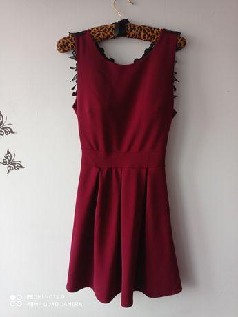 Sukienka bordowa S/M